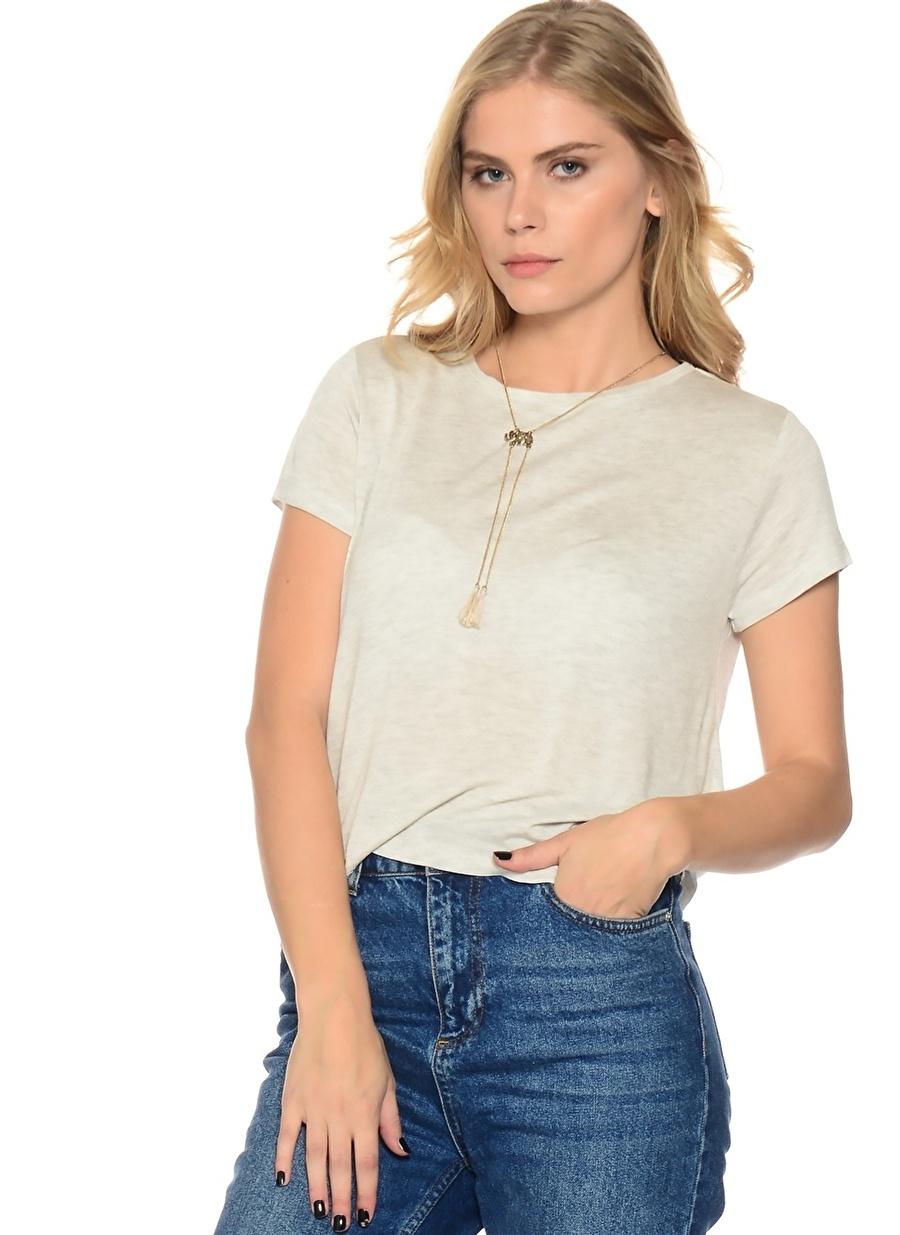 S Füme Melanj Shana Basic T-Shırt Kadın Giyim T-shirt Atlet