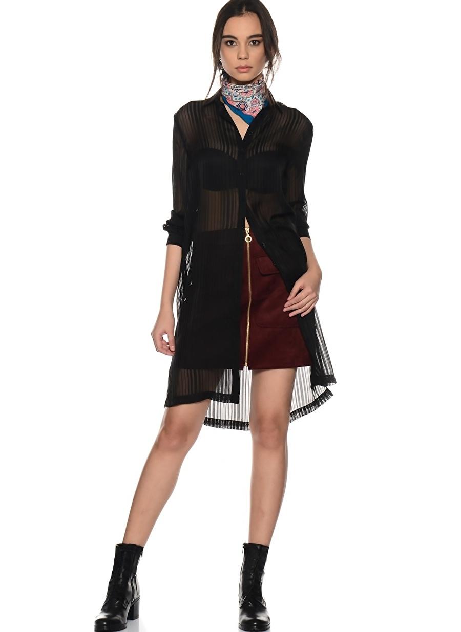 36 Siyah Twist Tunik Kadın Giyim