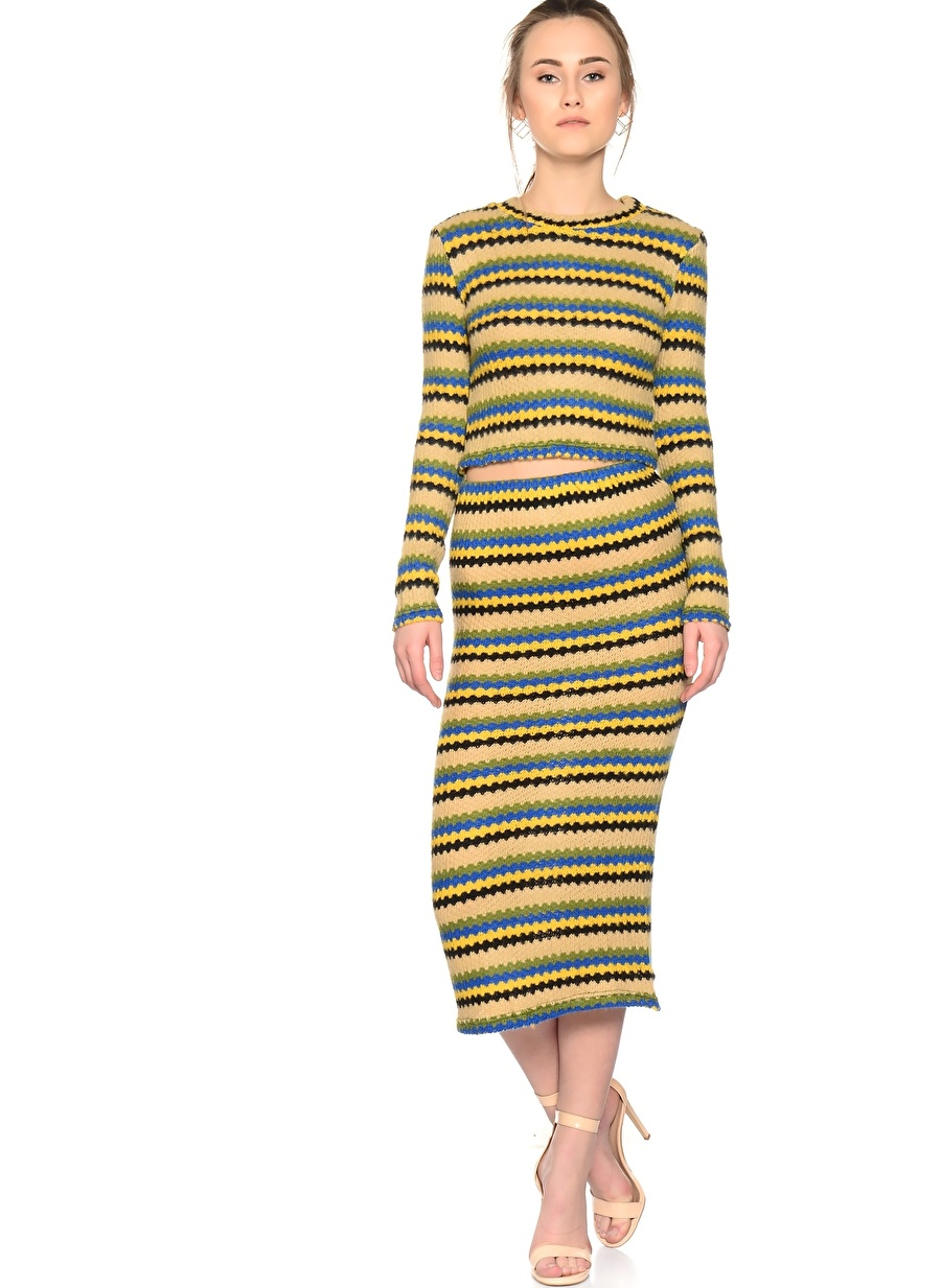 S-M Yeşil Jovonna Etek Kadın Giyim