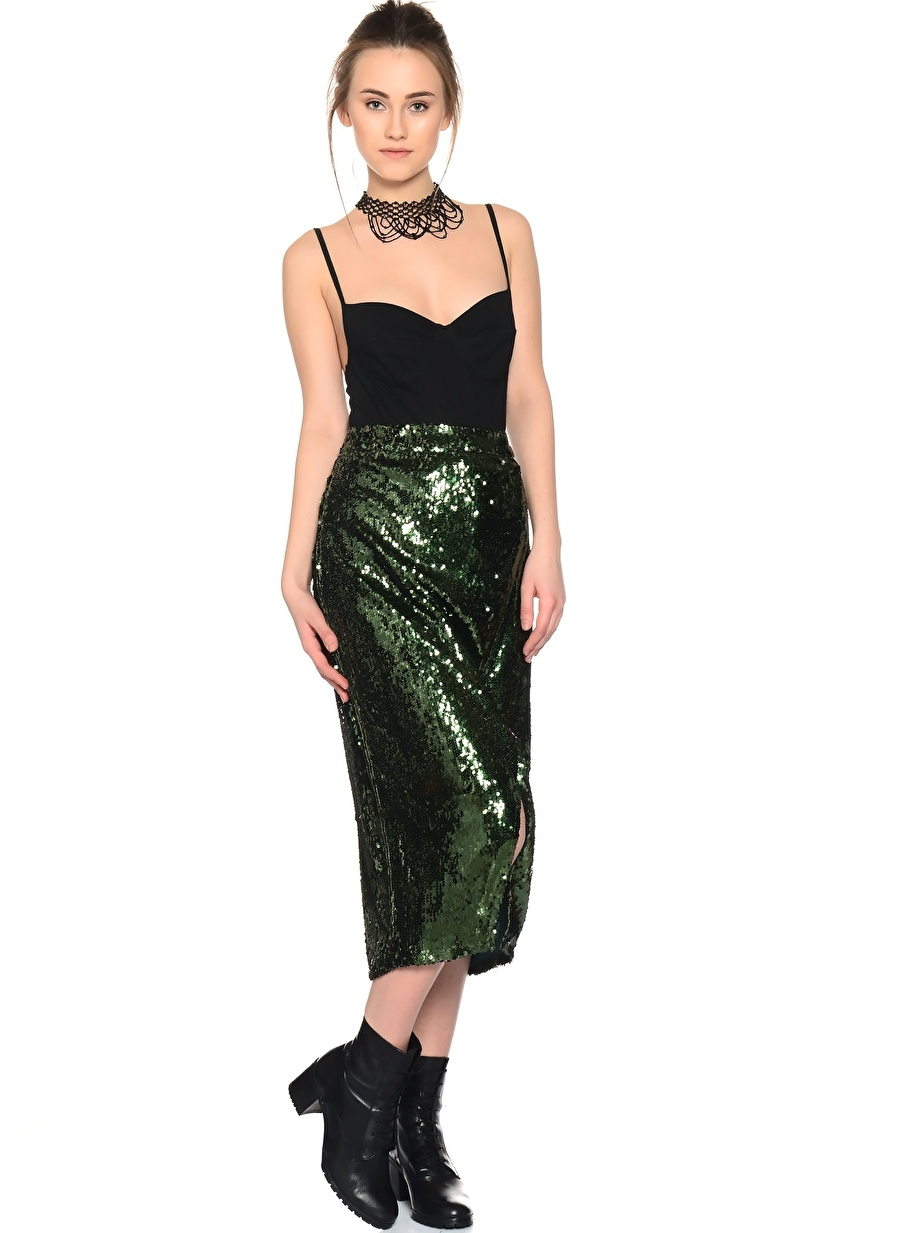 36 Yeşil Jovonna Etek Kadın Giyim