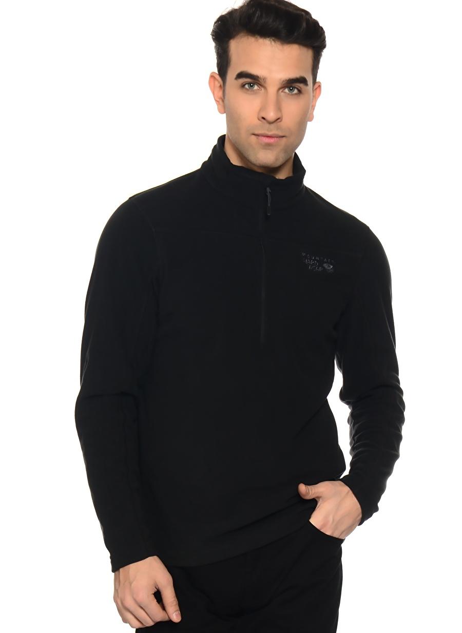 M Siyah Mountain Hardwear Om0085 Microchill™ 2.0 Polar Sweatshırt Spor Erkek Giyim Sweatshirt