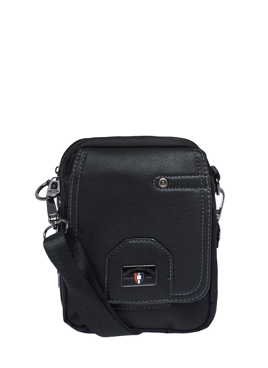 Standart Siyah Pascal Classicamp;Polo Racquet Classic&Polo Evrak Çan Ayakkabı Çanta Erkek Laptop Çantası