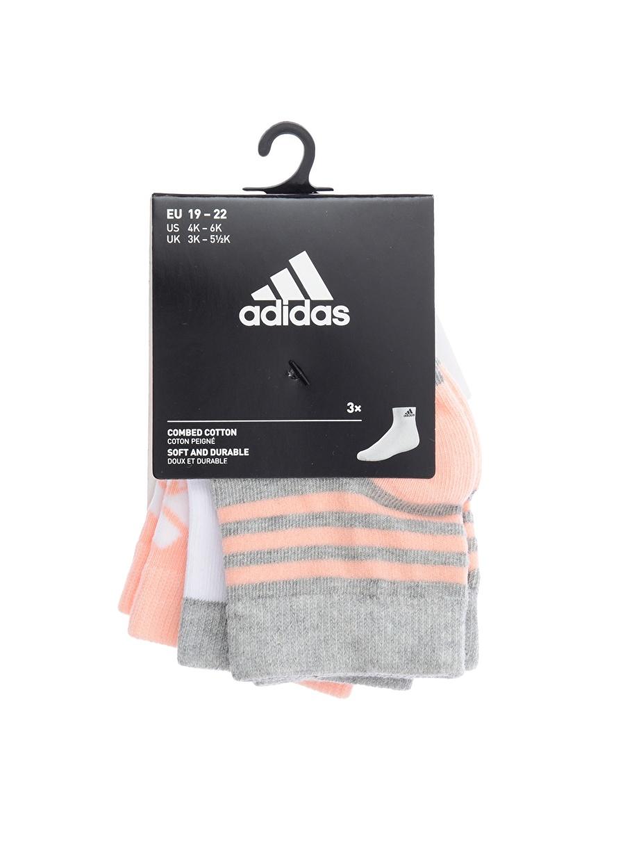 40-44 Kadın Gri adidas 3\'lü Çorap Spor Çocuk Ev İç Giyim