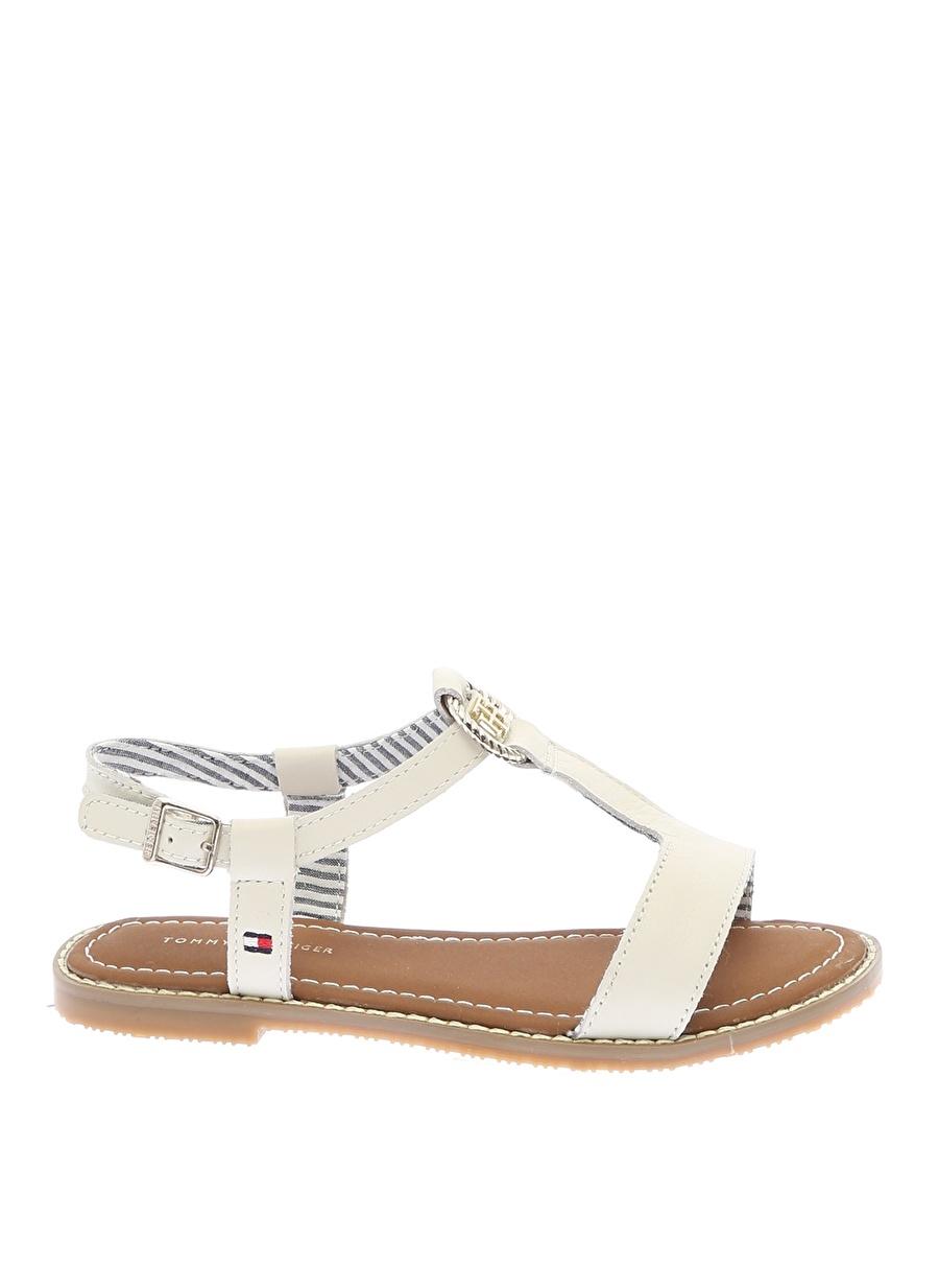 Kadın Beyaz Tommy Hilfiger Plaj Terliği Ayakkabı Çanta Çocuk Ayakkabıları Terlik Sandaletler