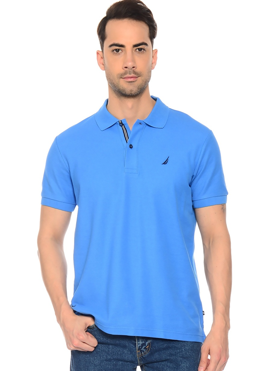 L Mavi Nautica Polo Yaka T-Shırt Erkek Giyim T-shirt Atlet
