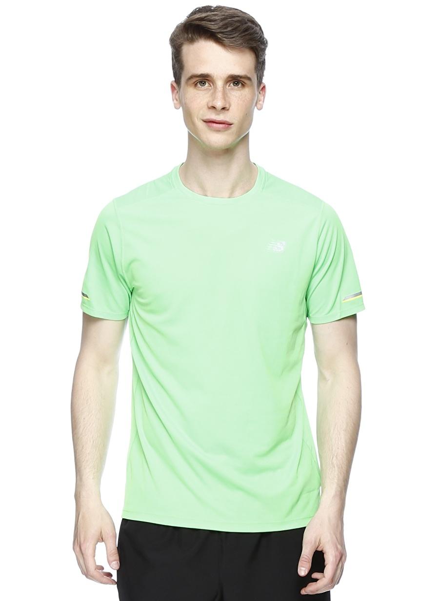 M Yeşil New Balance MT63223-VDC Erkek T-Shirt Spor Giyim T-shirt