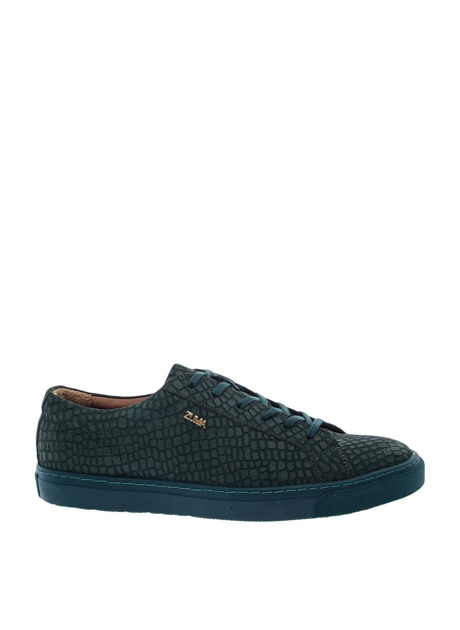 40 Koyu Nefti Zuma Erkek Yeşil Deri Günlük Ayakkabı Çanta