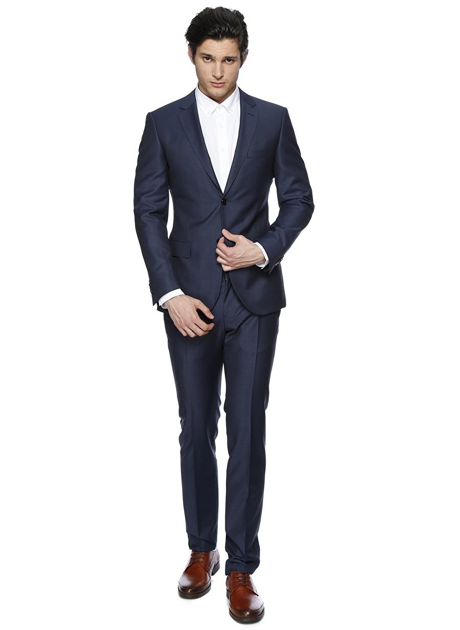 48-6 Koyu Lacivert George Hogg Takım Elbise Erkek Giyim
