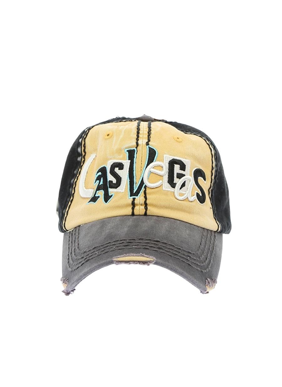 Standart Siyah Melanj Fonem Las Vegas Şapka Erkek Aksesuar ŞapkaKasket