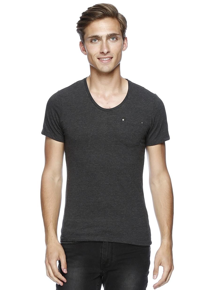 S Siyah Casual Friday T-Shirt Spor Erkek Giyim T-shirt