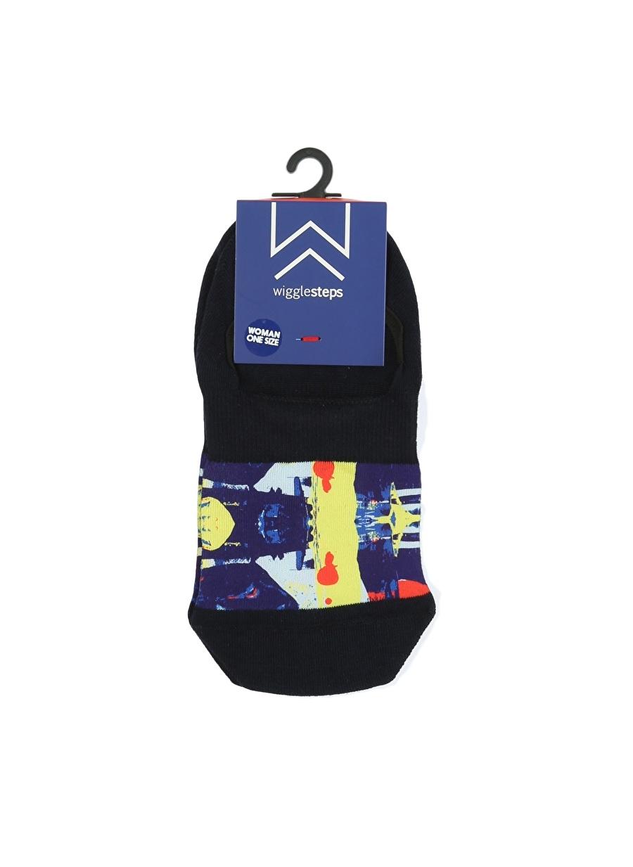 Standart Lacivert Melanj Wigglesteps Soket Çorap Kadın İç Giyim