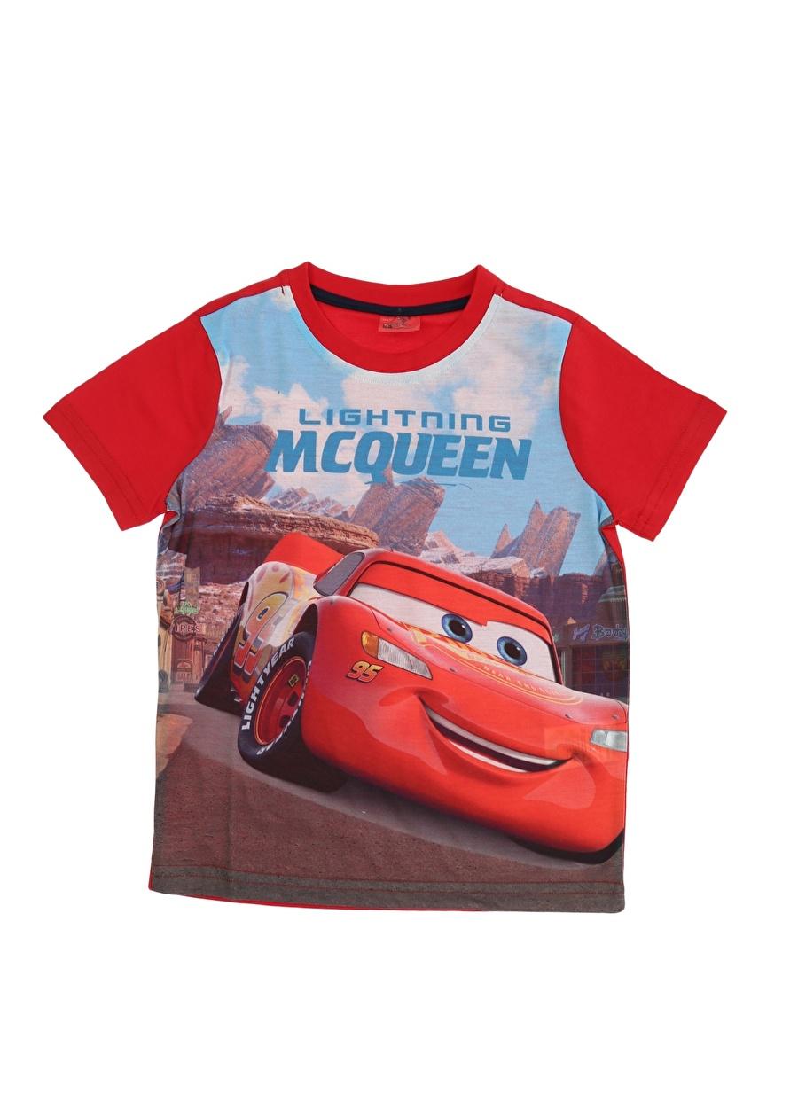 4 Yaş Erkek Kırmızı Limon Lightning McQueen T-Shırt Çocuk Lisanslı Ürünler