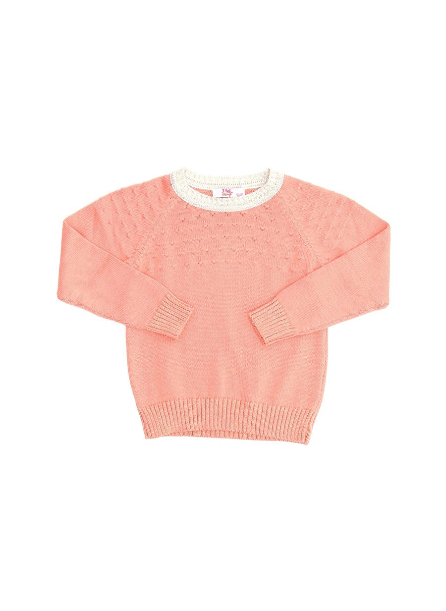 12 Yaş Kadın Turuncu Pinkamp;Orange Pink&Orange Pembe Kız Çocuk Kazak Giyim Hırka