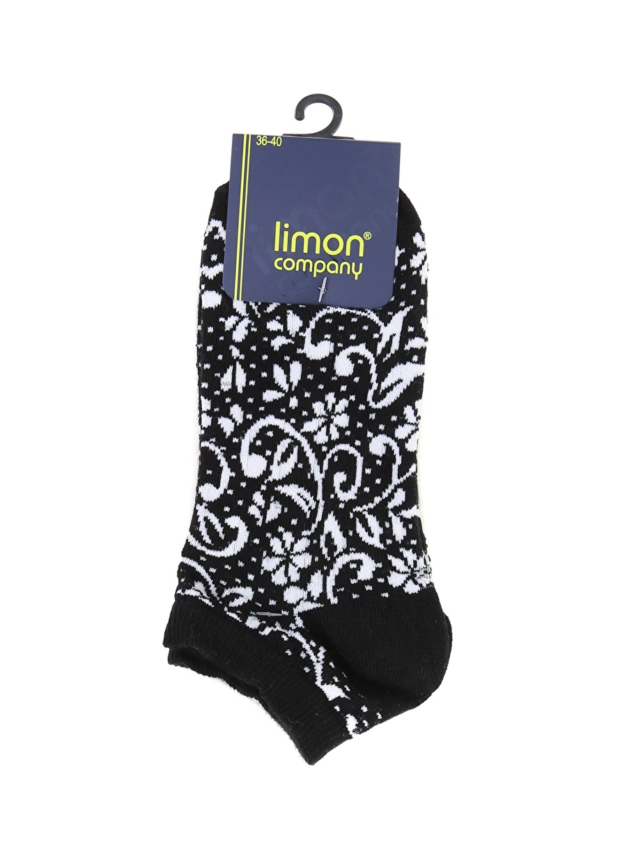 Standart Siyah Limon Soket Çorap Kadın İç Giyim
