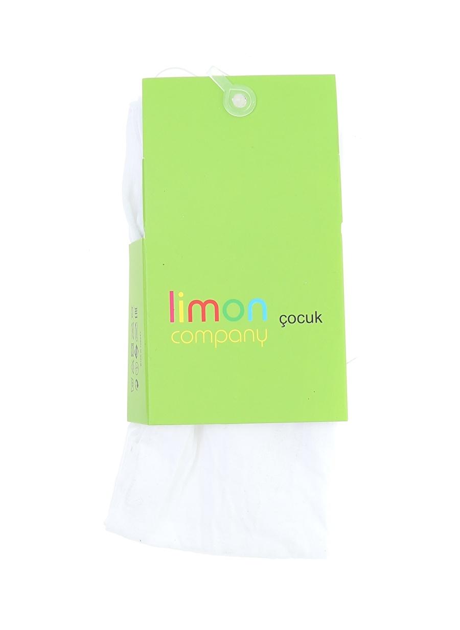 12 Yaş Kadın Beyaz Limon Külotlu Çorap Çocuk Ev İç Giyim
