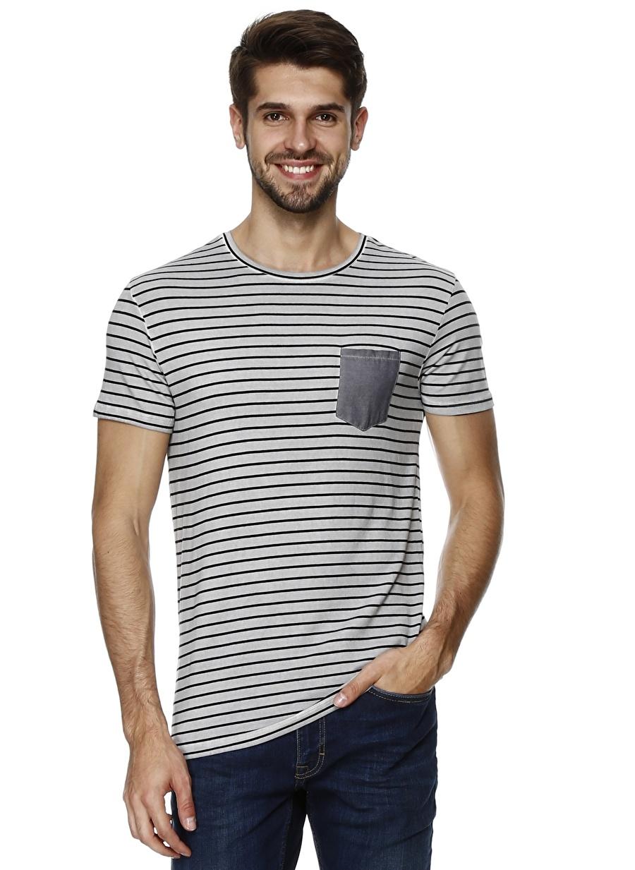M Koyu Antrasit Mustang T-Shirt Spor Erkek Giyim T-shirt