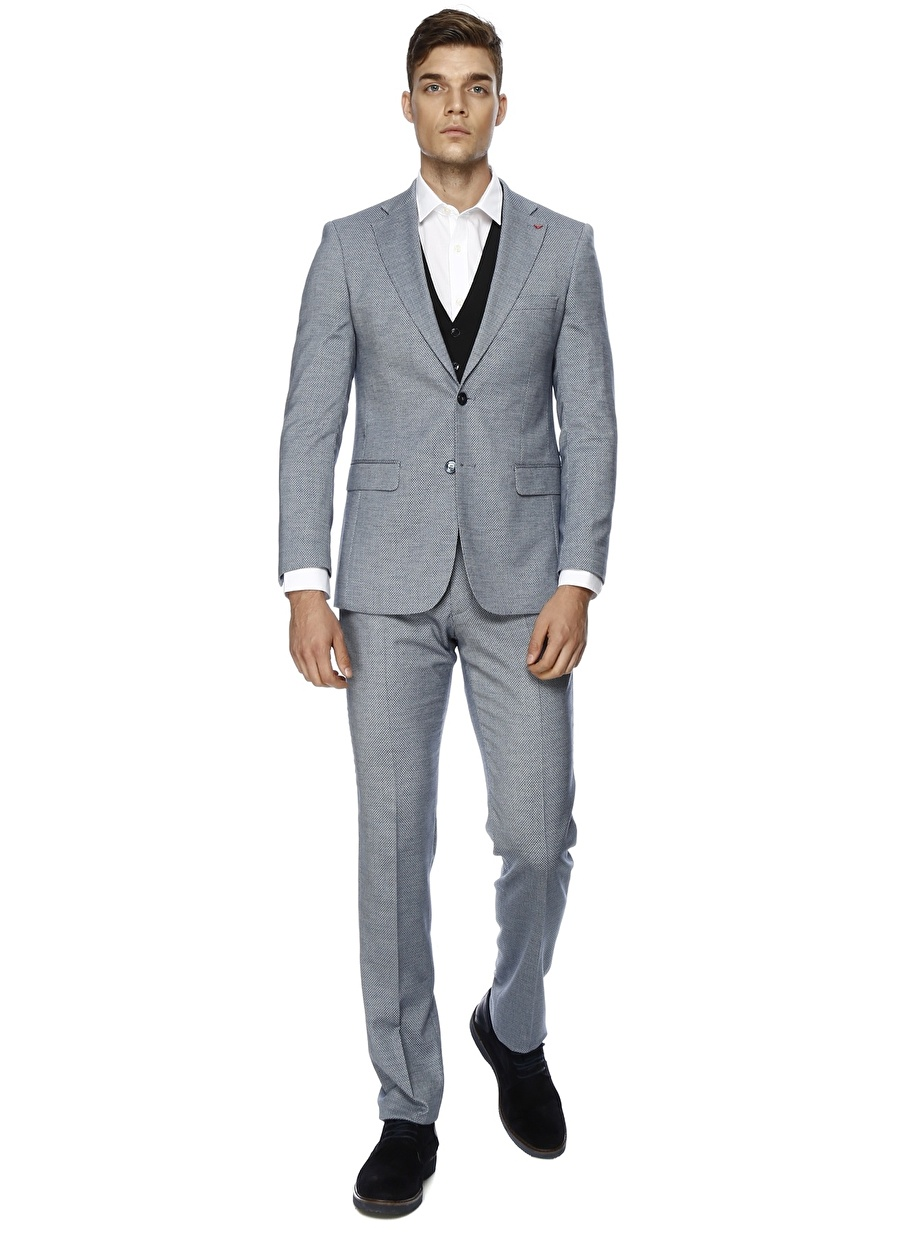 52-6 Koyu Lacivert Ds Takım Elbise Erkek Giyim