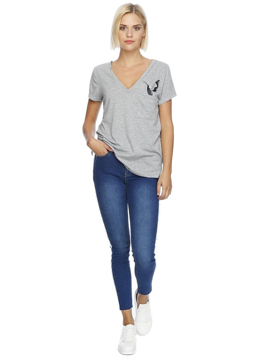 28-32 Mavi Network Denim Pantolon Kadın Giyim Jean Skinny
