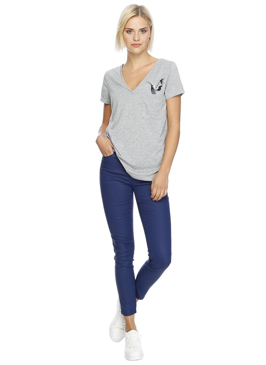 27-32 Neon Lacivert Network Denim Pantolon Kadın Giyim Jean Skinny