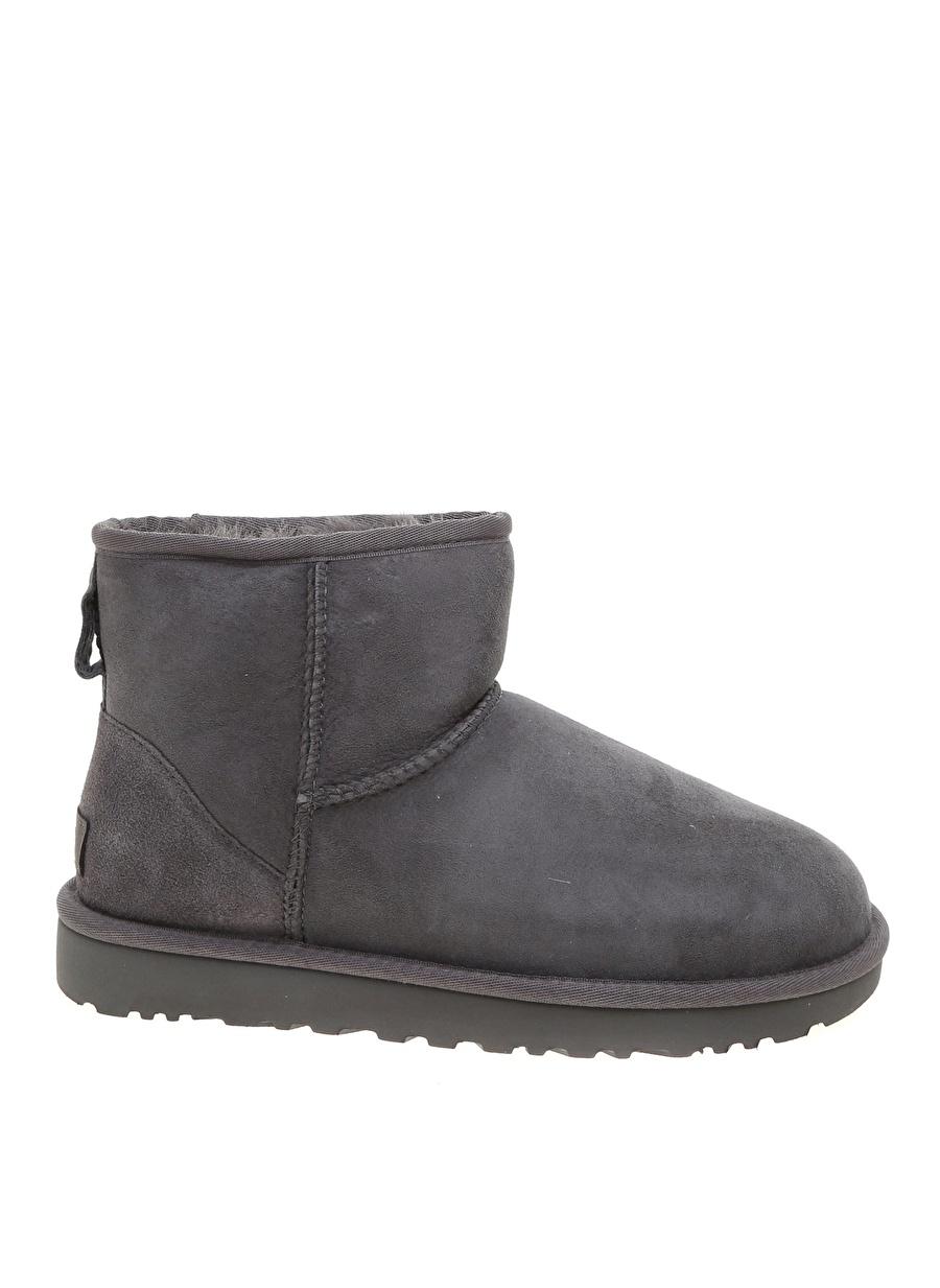 36 Gri Ugg Bot Ayakkabı Çanta Kadın Çizme