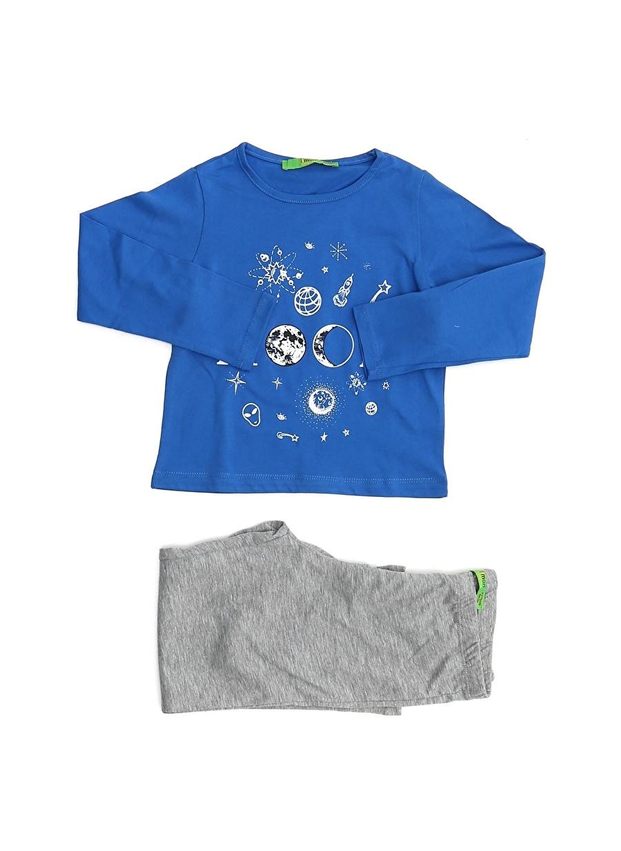 10 Yaş Erkek Çok Renkli Limon Pijama Takımı Çocuk Ev İç Giyim