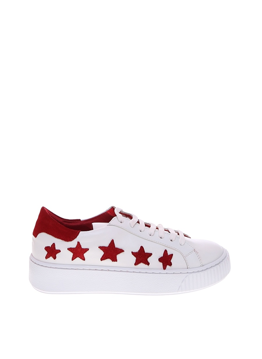 37 Kırmızı Outpost Lab Yıldız Detaylı Düz Ayakkabı Çanta Kadın