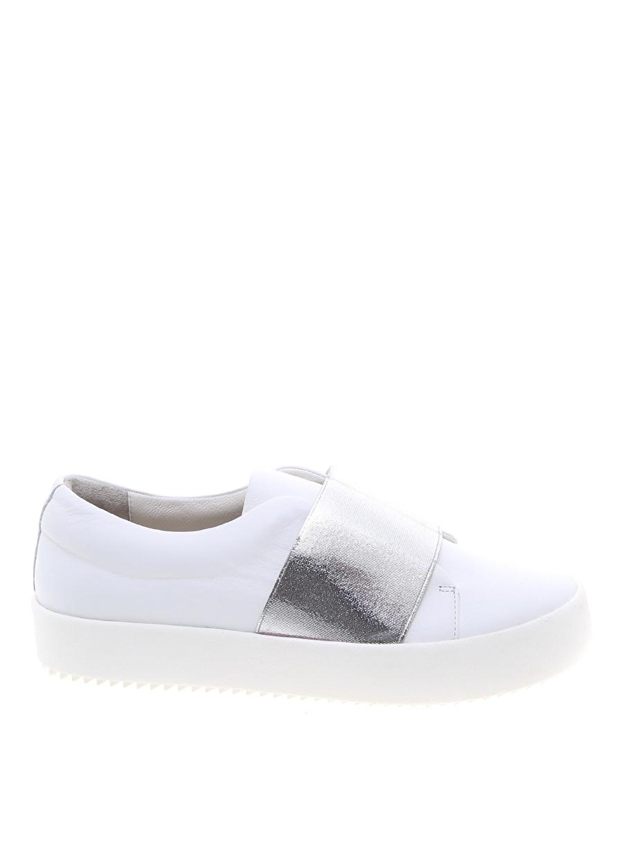 39 Beyaz Belle Epoque Düz Ayakkabı Çanta Kadın