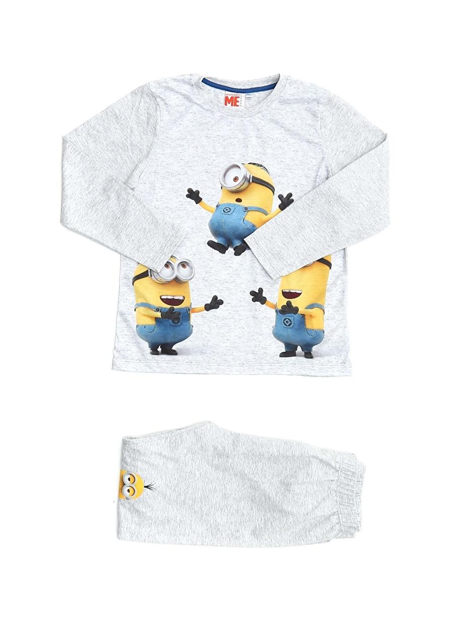 8 Yaş Erkek Çok Renkli Limon Pijama Takımı Çocuk Ev İç Giyim