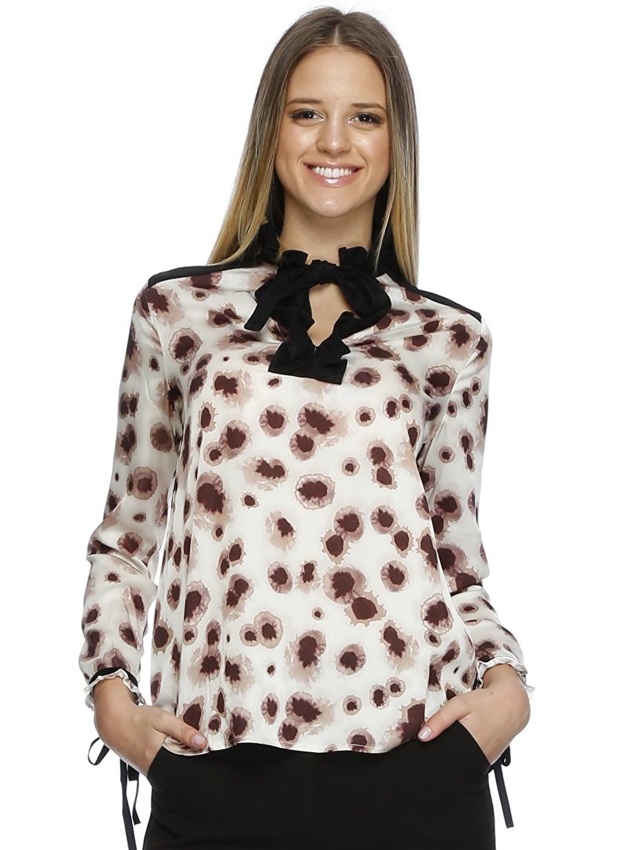 S Çok Renkli Cubic Bluz Kadın Giyim Gömlek