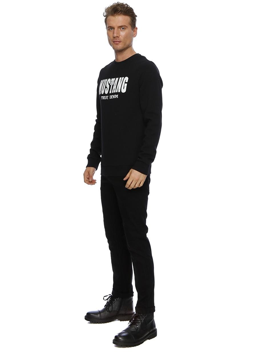 2XL Siyah Mustang Sweatshırt Spor Erkek Giyim Sweatshirt