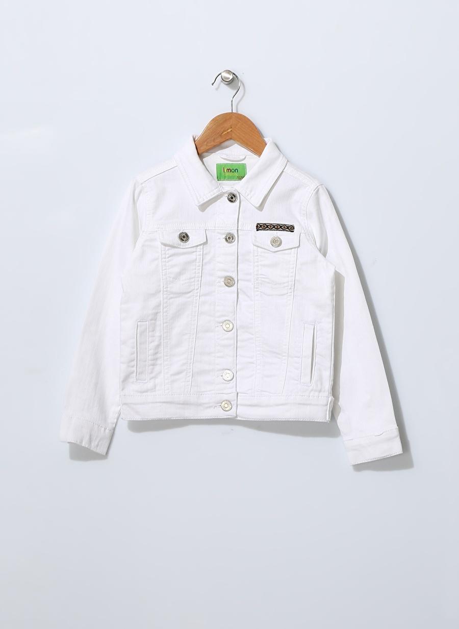 3 Yaş Kadın Beyaz Limon Kız Çocuk Ceket Giyim Yelek