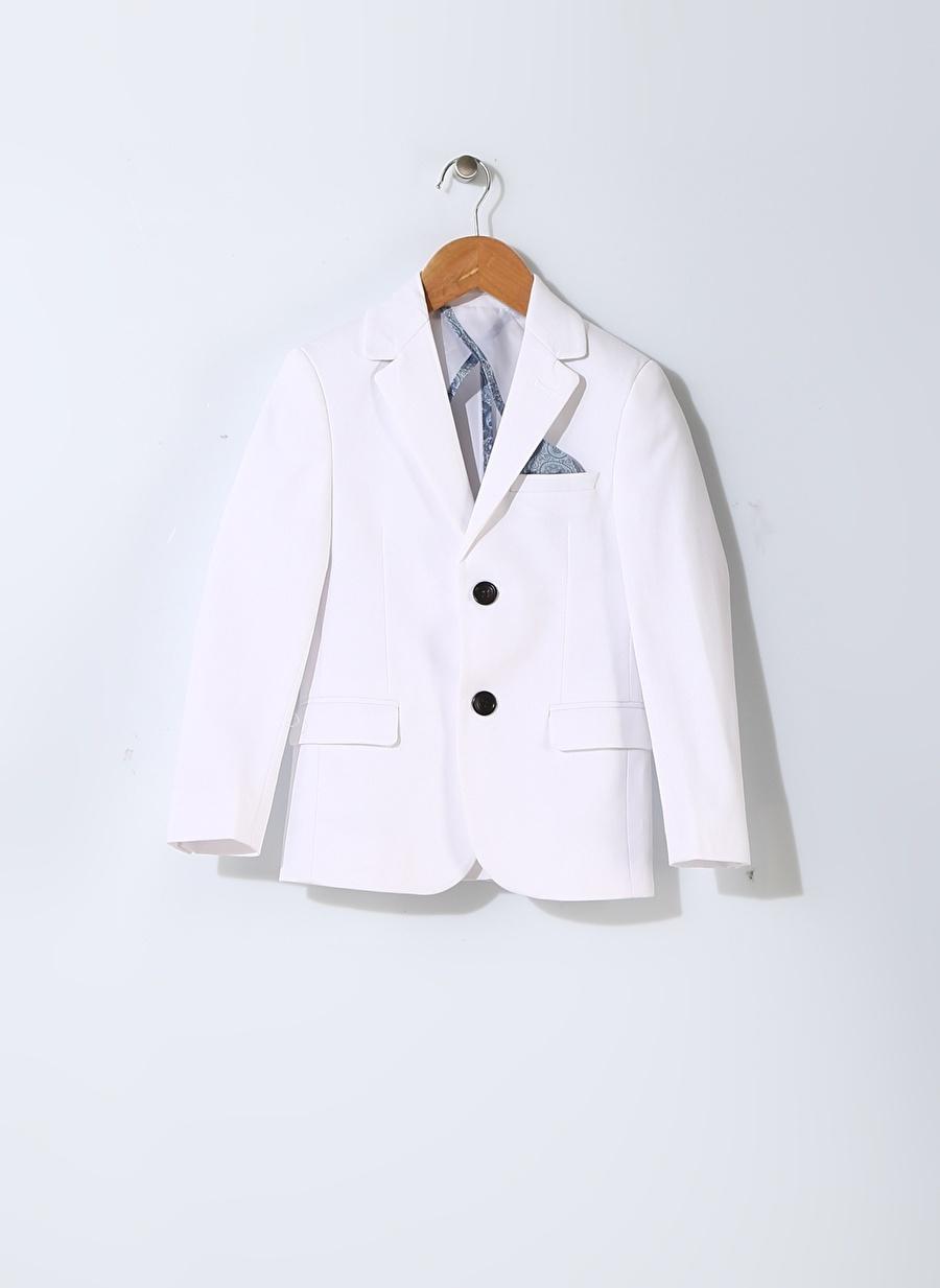 7-8 Yaş Erkek Beyaz North Of Navy Çocuk Ceket Giyim Yelek