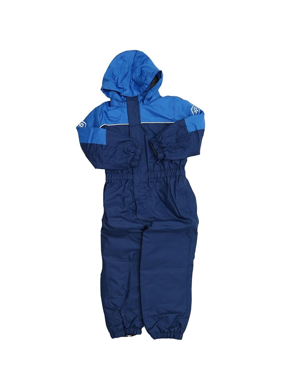 4 Yaş Erkek Mavi Color Kids Tulum Yağmurluk Çocuk Dış Giyim Trençkot
