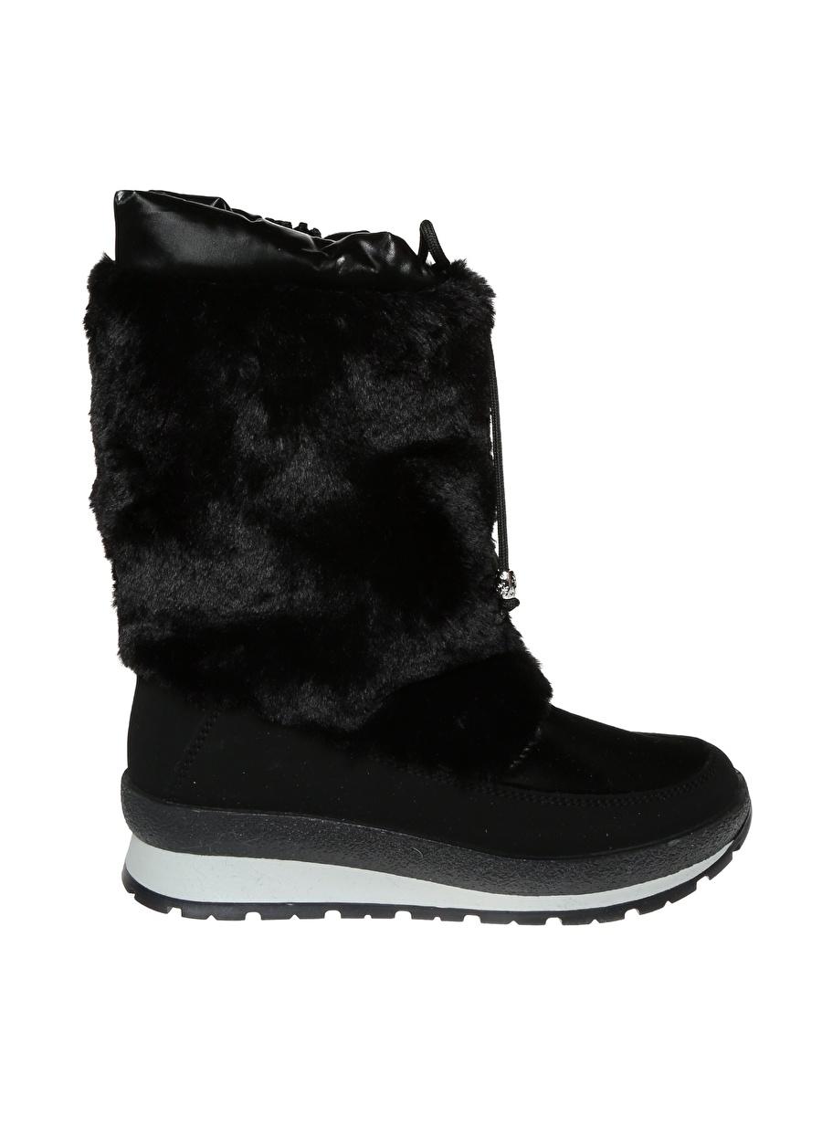 35 Siyah Effe Tre Kar Botu Ayakkabı Çanta Kadın Çizme