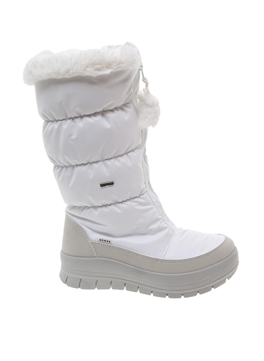 36 Beyaz Skandia Kadın Kar Botu Ayakkabı Çanta Çizme