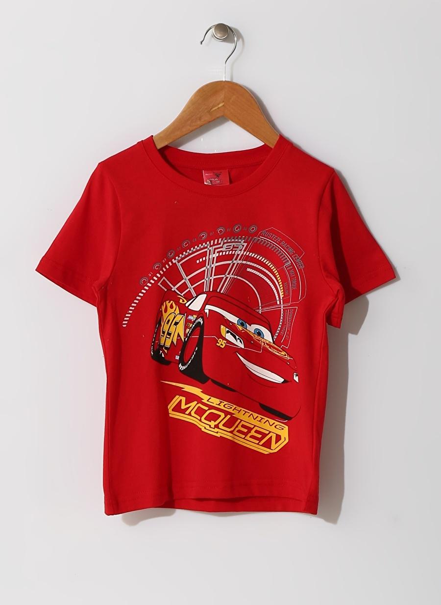11-12 Yaş Erkek Kırmızı Limon Çocuk Baskılı Pijama Takımı Ev İç Giyim