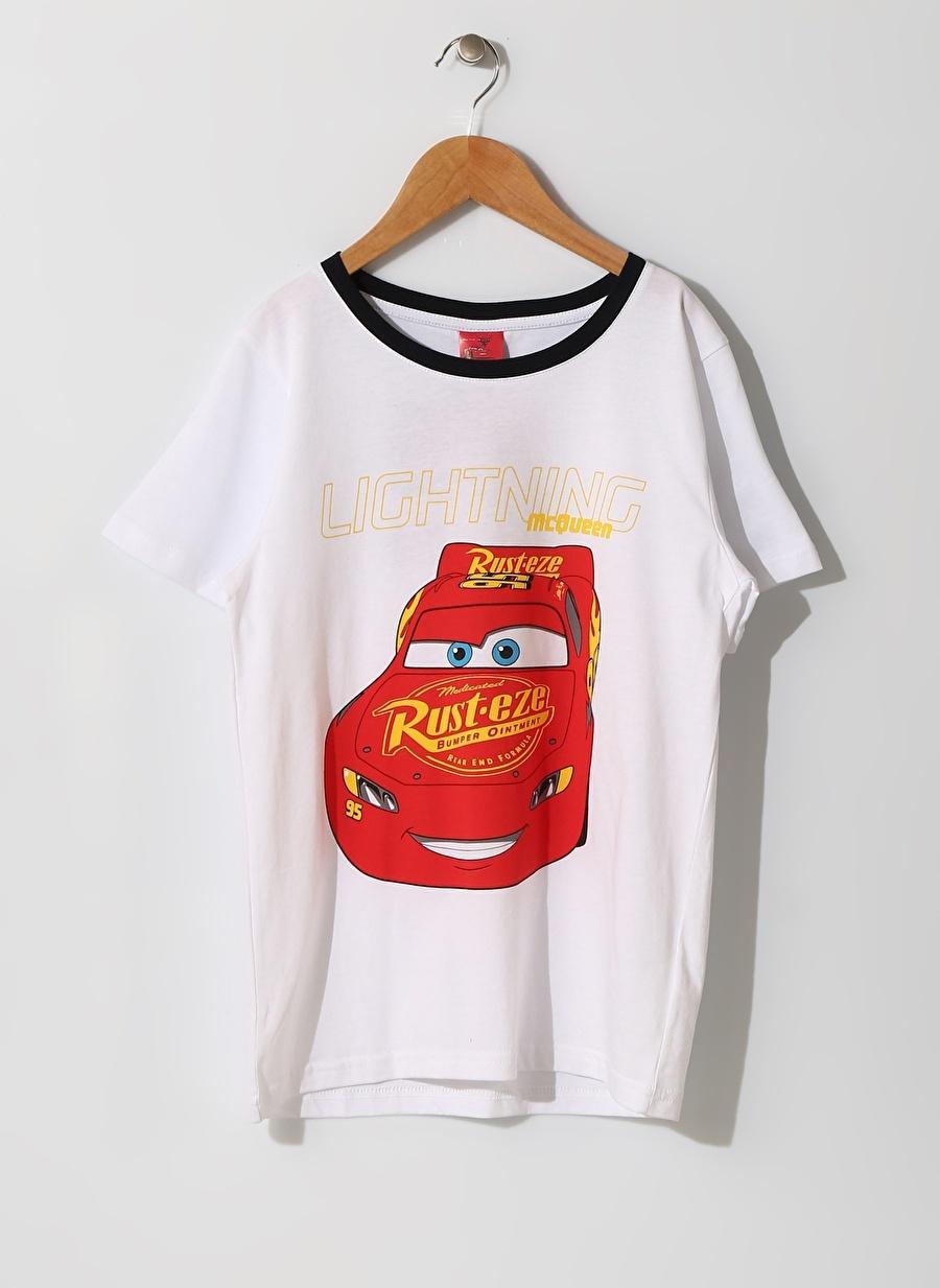 11-12 Yaş Erkek Koyu Lacivert Limon Çocuk Araba Baskılı Renkli Pijama Takımı Ev İç Giyim