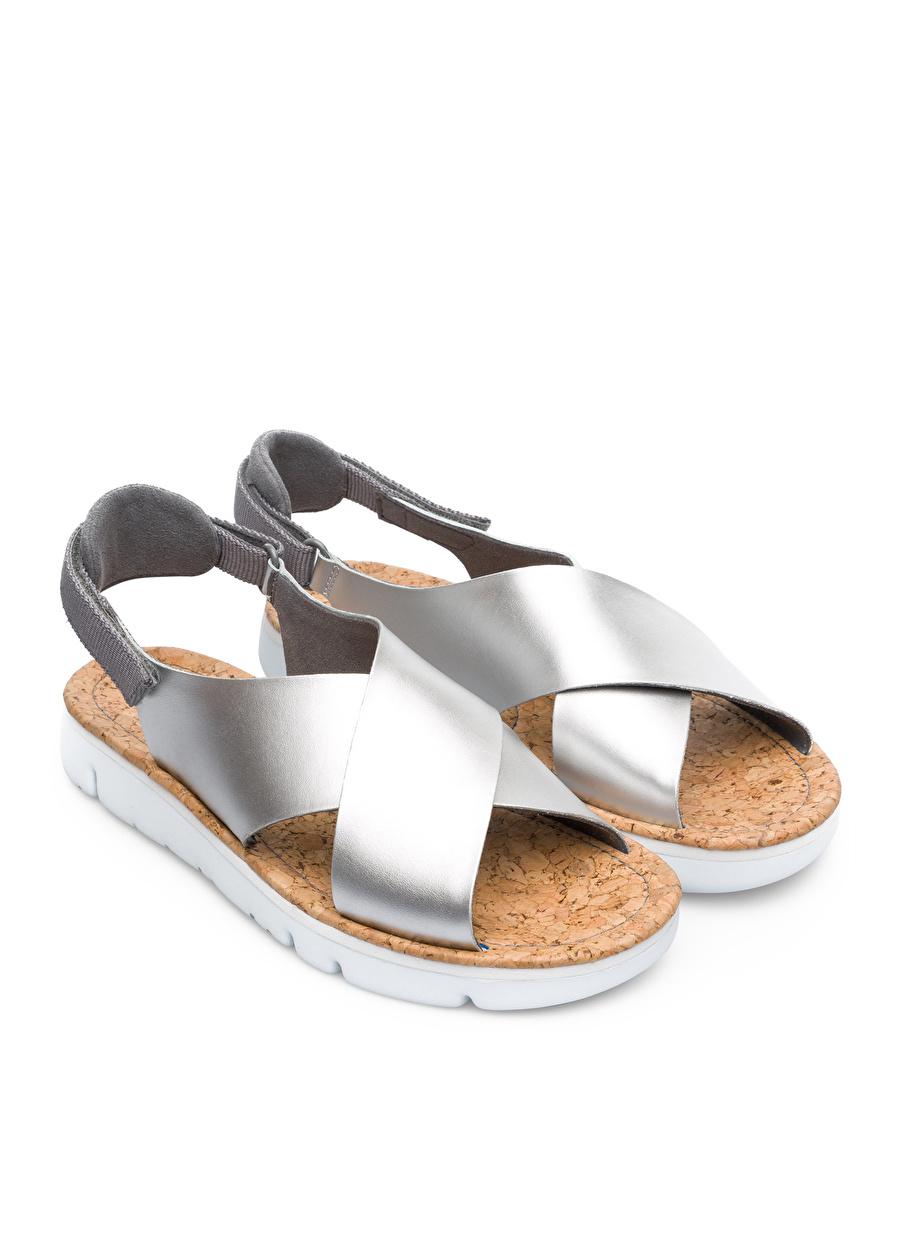 37 Füme Camper Oruga Sandalet Ayakkabı Çanta Kadın Terlik