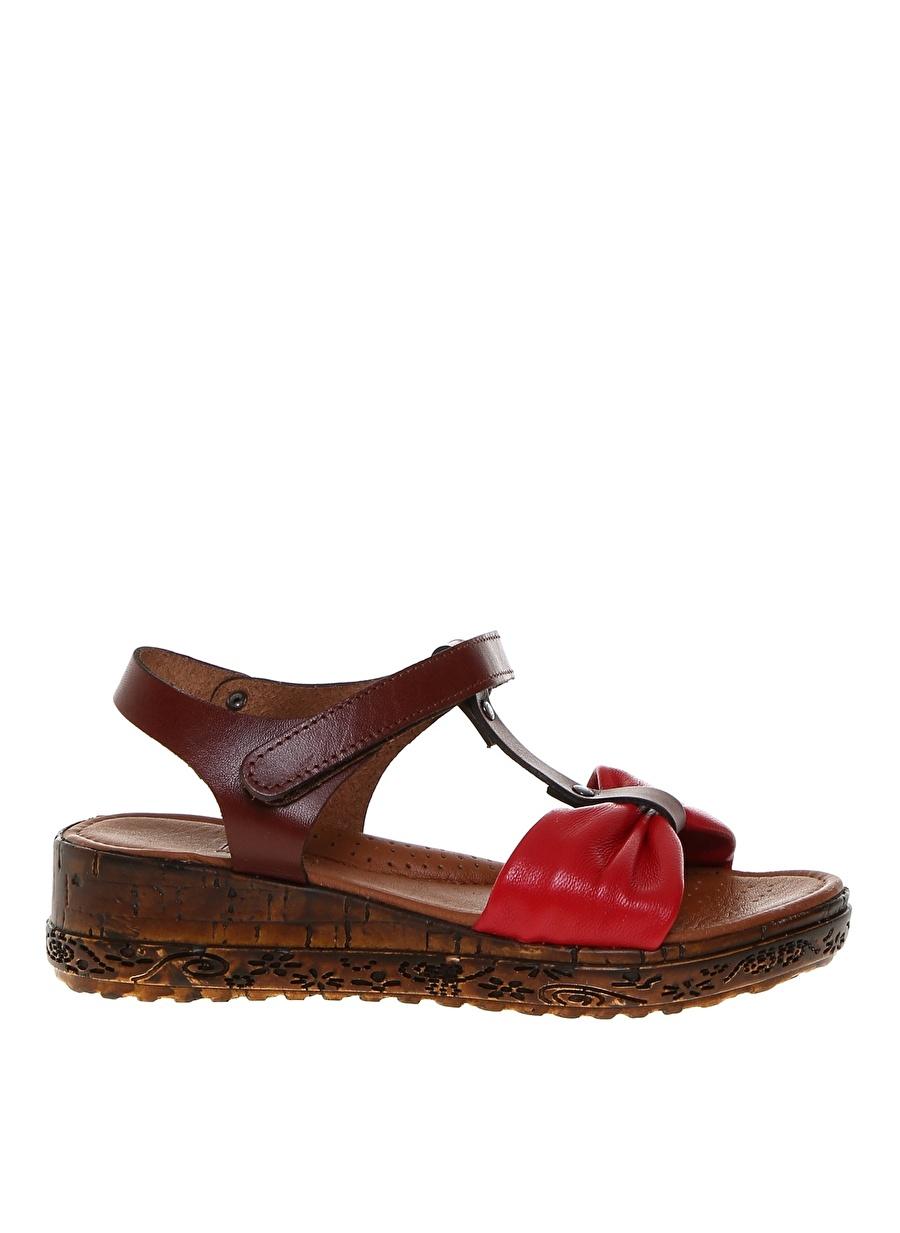 Kadın Kırmızı Limon Kız Çocuk Plaj Terliği Ayakkabı Terlik Sandalet
