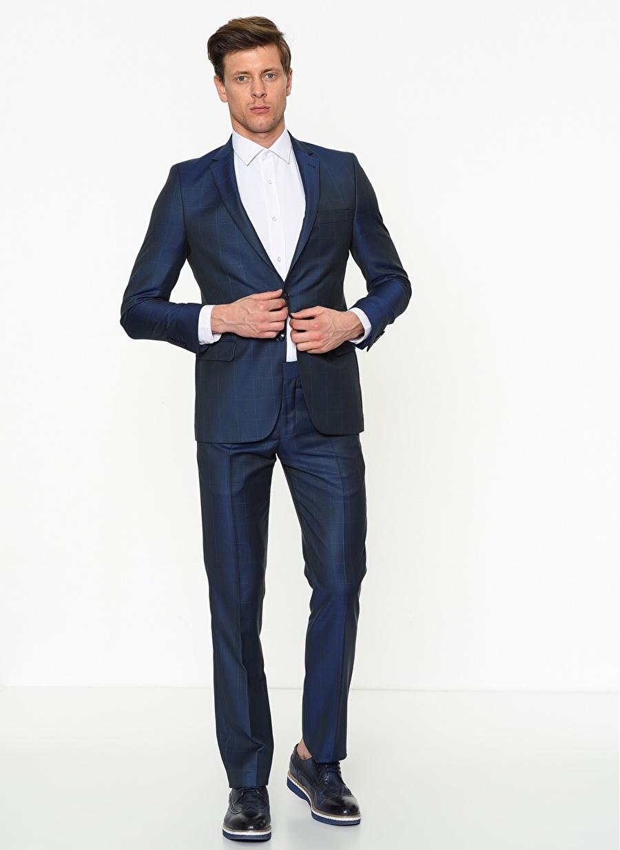56-6 Koyu Lacivert Altınyıldız Classic Altinyildiz Slim Fit Takım Elbise Erkek Giyim