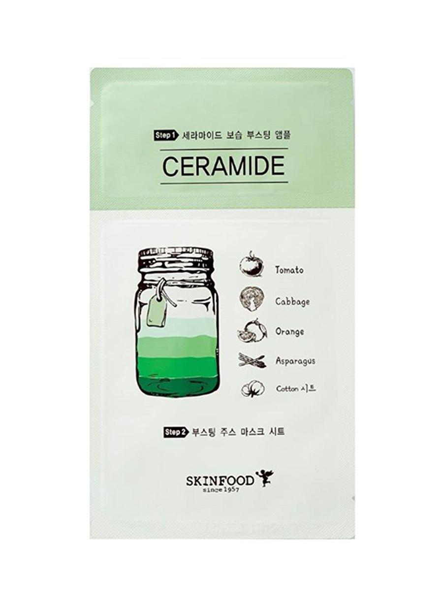 Standart unisex Renksiz Skinfood Boosting Juice 2 Parçalı Tek Kullanımlık Seramid Bakım Maskesi Kozmetik Cilt Bakımı Yüz Peeling