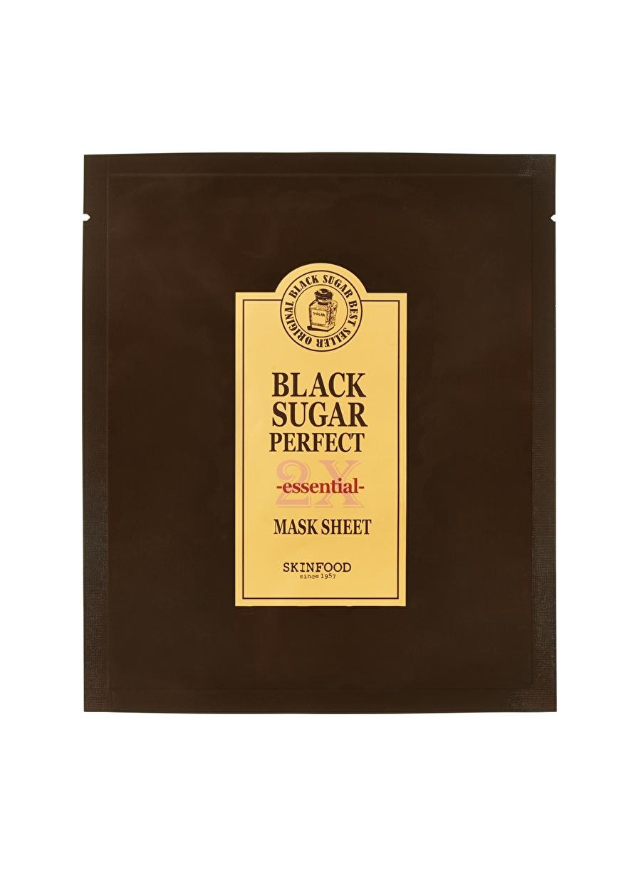 Standart unisex Renksiz Skinfood Black Sugar Perfect 2X Essentıal Bakım Maskesi Kozmetik Cilt Bakımı Yüz Peeling