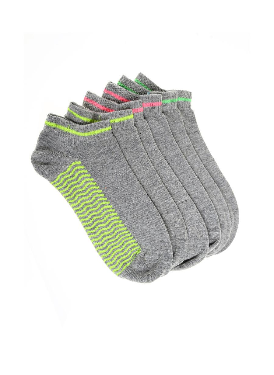 3 Yaş Kadın Çok Renkli Pixteramp;Bro Pixter&Bro Çocuk 3\'lü Spor Çorap Ev İç Giyim