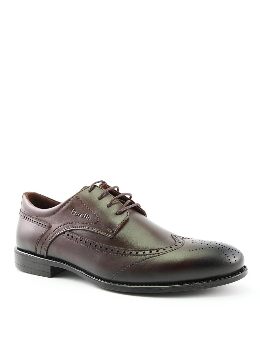 44 Kahve Forelli Klasik Ayakkabı Çanta Erkek