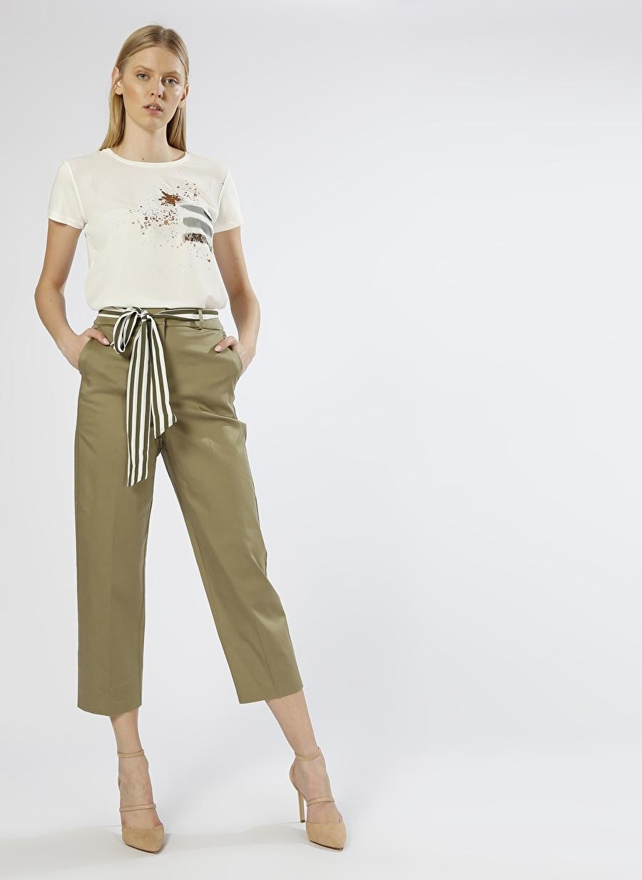 34 Haki İpekyol Ankle Yeşil Pantolon Kadın Giyim