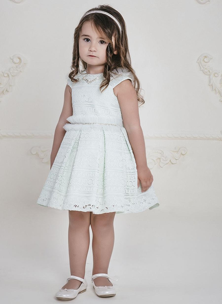 1 Yaş Kadın Krem Pamina Elbise Çocuk Bebek Giyim