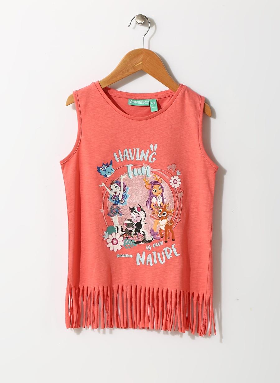 3 Yaş Kadın Mercan Enchantimals Kız Çocuk Karakter Baskılı T-Shırt Giyim T-shirt