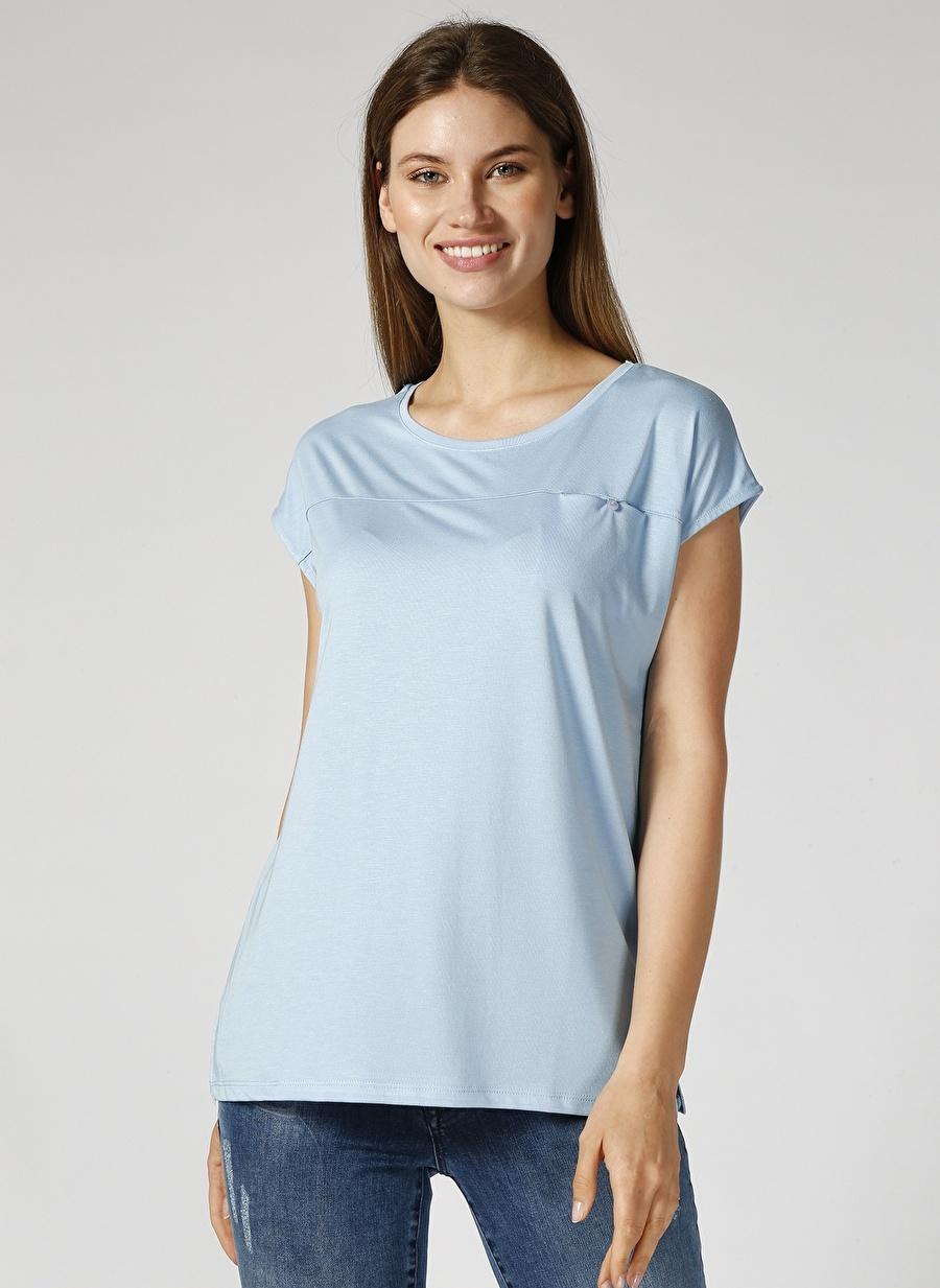 L Mavi Stamina Bisiklet Yaka Bluz Kadın Giyim Gömlek