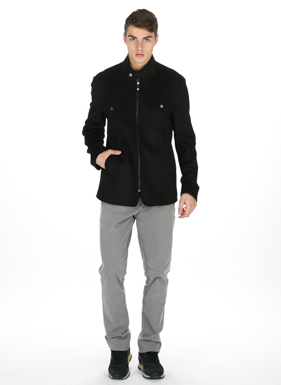 S Siyah Pi Kaban Erkek Dış Giyim