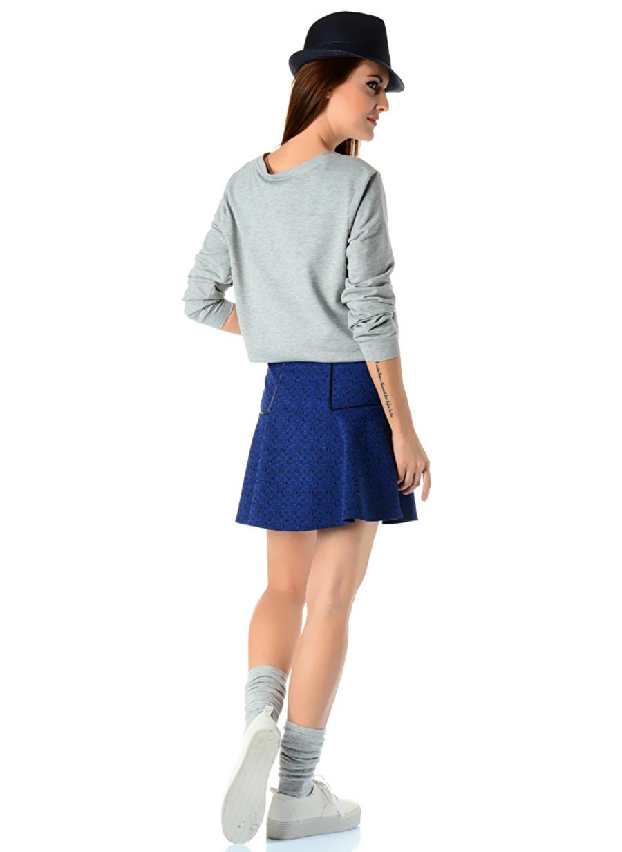 42 Mavi Kafdan By Elaidi Etek Kadın Giyim